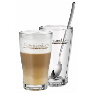 Komplet 2 szklanek 300ml do Latte Macchiato